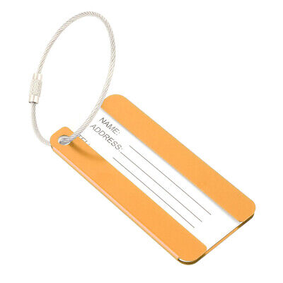Outdoor Travel Aluminium Alloy Suitcase Luggage Tag Name Label Key Holder Orange