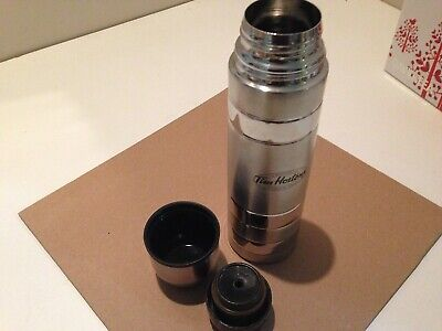 TIM HORTONS Coffee Stainless Steel Metal Canadian Travel Thermos! FREE USA SHIP!