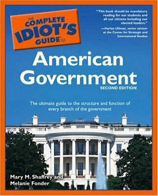 Complete Idiot's Guide to American Government by Fonder, Melanie Paperback Book