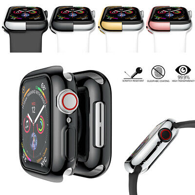 Funda de parachoques de protección Slim Plating TPU para Apple Watch Serie 4