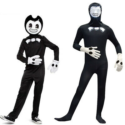 Bendy and the Ink Machine Cosplay Costumes Kids Jumpsuit Xmas  Party Fancy Dress