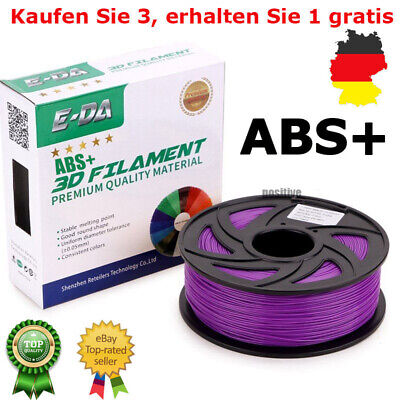 *Buy 3 Get 1 Free* 3D 1,2kg Drucker Filament Rolle ABS Nylon 1,75mm 400M Lila