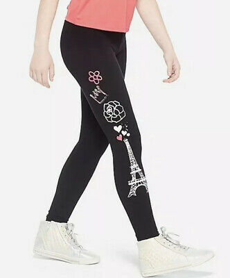 Justice Girl's Size 12 PARIS Graphic Print Leggings New with Tags