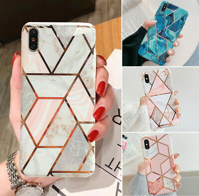Geometric Marble Case Fr iPhone 11 7 8 6s Plus XR XS Max Soft Pastel Phone Cover