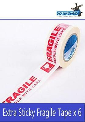 Aadvark Extra Sticky FRAGILE TAPE PACKING TAPE x 6 Rolls