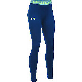 Under Armour Girls' UA HeatGear Armour Solid Legging Blue Size YMD    *REF117