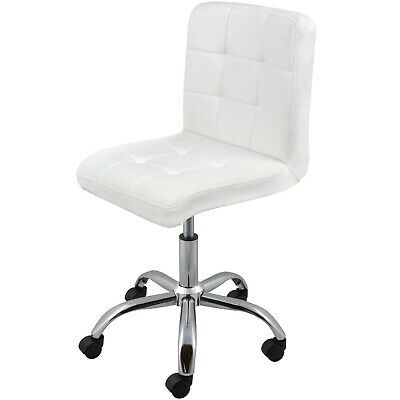 REBOXED Swivel Office Chair PU Leather Home Computer Desk Stool Wheels White