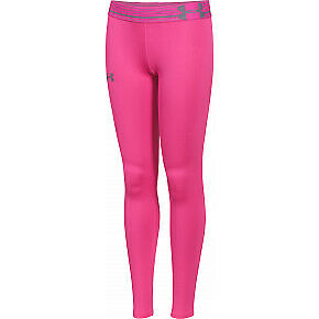 Under Armour Junior Girls Compression Tights Bright Pink Size YMD   *REF117