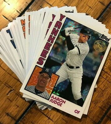 2019 Topps Update 1984 Chrome Refractor Silver Pack *You Pick* Complete Your Set