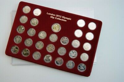 Exclusive SCHULZ 2012 Sport Collection Case 50p London Tray/Display + 30 Capsule