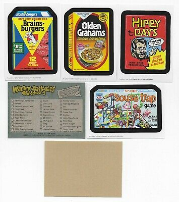WACKY PACKAGES Old School Series 3 Tan Set  (33 Stickers plus 9 Checklist Cards)