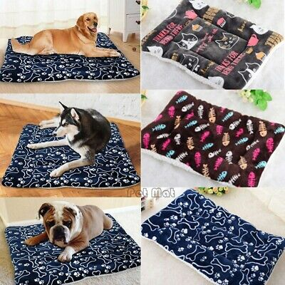Pet Dog Cat Cute Bed Cushion Mat Pad Kennel Crate Cozy Warm Soft House S-XL