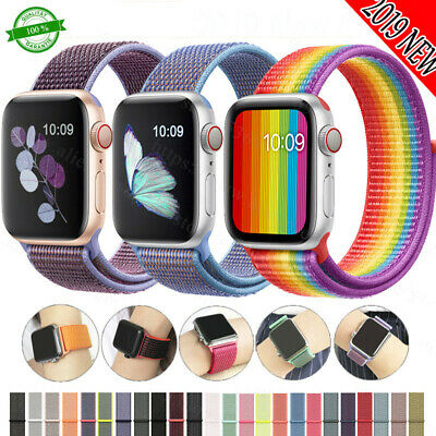 Nylon Armband Sport Uhrenarmband Für Apple Watch Series 5/4/3/2/1 38/40/42/44MM