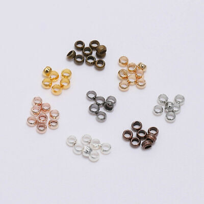 Lot 500pc Crimp End Finding Stopper Spacer Beads For DIY Jewelry Making