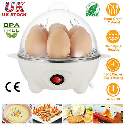 360W Electric Egg Boiler Cooker with Poacher Steamer and Omelette Maker Auto-Off