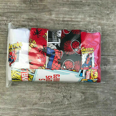 5 x Pairs Boys Spider-Man Spiderman Pants Briefs Age 7 - 8 Years