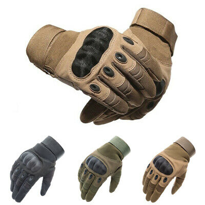 Tactical Hard Knuckle Gloves Men Army Military Combat Airsoft Paintball Patrol