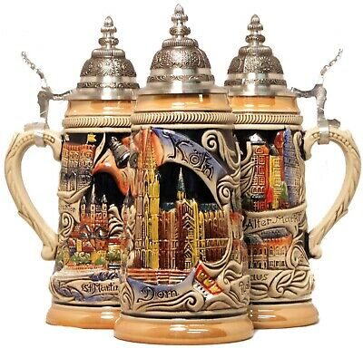 Koln Cologne Deutschland Germany Beer Stein .25L Made in Germany ONE Mug New