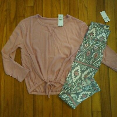 NWT Justice Girls Outfit Top/Leggings Size 8 12