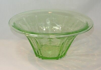 Vintage Green PRINCESS Hat Shaped Serving Bowl Depression Glass Anchor Hocking