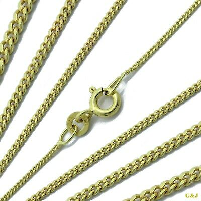 Panzer flach Kette 0,8-1,7mm 333 GELB GOLD 8K in 34cm-60cm Collier Damen Herren
