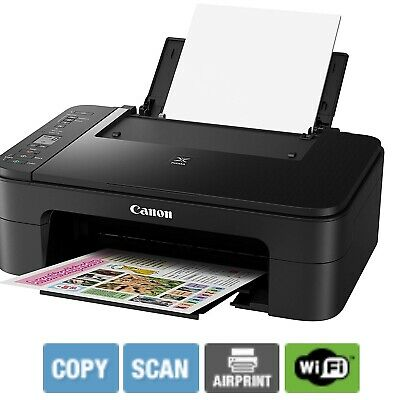 Canon Wireless Printer SCAN PRINT COPY Home Student Document Printing  With INK