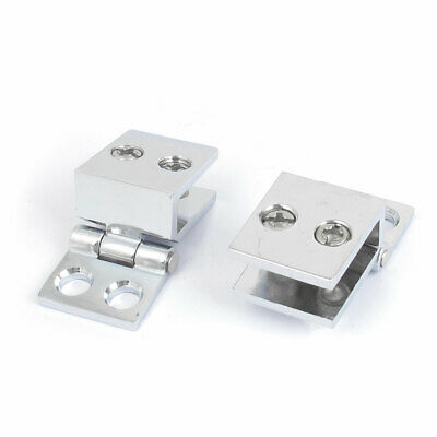Adjustable 5-8mm Zinc Alloy Brushed Finished Clip Glass Hinge for Cabinet Glass Door Glass Wine Cabinet Cupboard Door Wall Mounted Glass Showcase Set of 4 NUZAMAS 90 Degree Glass Clamps