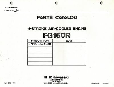 Kawasaki  Fg150R  Air Cooled  Engines  Parts  Manual Xx