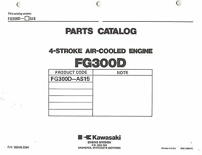 Kawasaki Fg300D Air Cooled Engines Parts Manual 16
