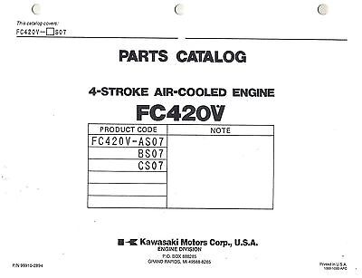 Kawasaki  Fc420V  Air Cooled  Engines  Parts  Manual Xx