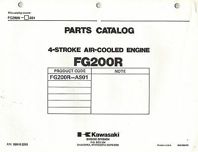 Kawasaki  Fg200G-As01  Air Cooled  Engines  Parts  Manual