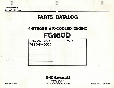Kawasaki  Fg150D  Air Cooled  Engines  Parts  Manual X
