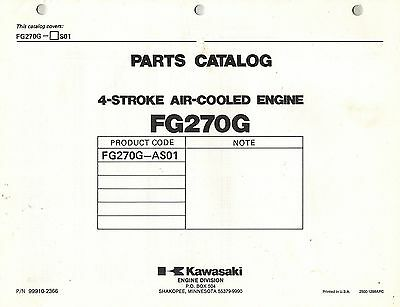 Kawasaki  Fg270G  Air Cooled  Engines  Parts  Manual Xx