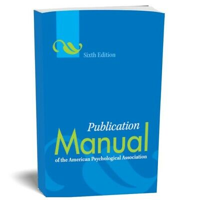 Publication Manual of the American Psychological Association 6th Ed (P.D.F)