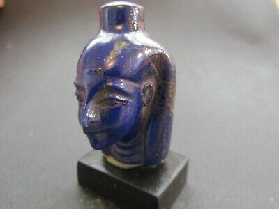 NILE Ancient Egyptian Lapis Head Amulet ca 300 BC