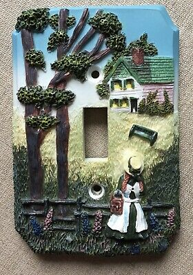 Anne of Green Gables Collectable Gift Light Switch Cover Rare 3D Raised Resin