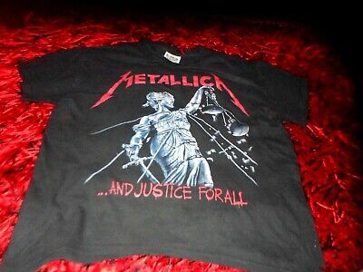 Mens Vintage Metallica Justice For All T Shirt Festival Gc Large Metal  Band