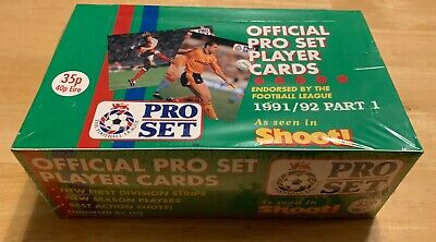Pro Set Official Pro Set Player Cards 1991/92 Part 1 Sealed Box Of 48 Packs Rare