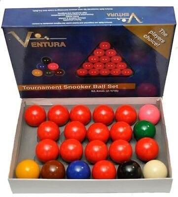 Ventura Snooker set bilie mm.52,4.15 bilie rosse 6 colorate + bianca battente
