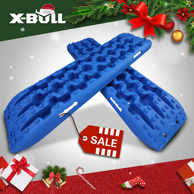 X-BULL 3.0 Recovery Tracks Sand Track Mud Snow Grass 4WD Trax Caravan 2PC Blue