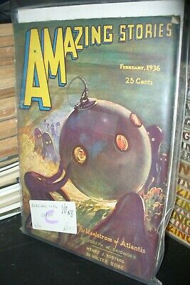 Amazing Stories Fiction Us Edition Feb, June 1936  [2 Issues]