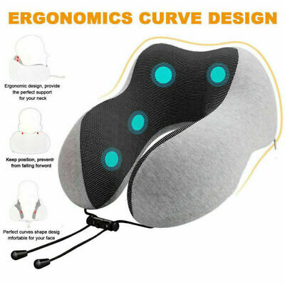 Memory Foam U Shaped Travel Pillow Neck Support Head Rest Sleep Car Airplane US