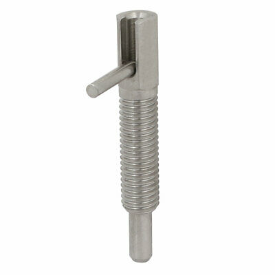 M10 Thread Stainless Steel Lock-Out Type Retractable Indexing Plunger w L Handle