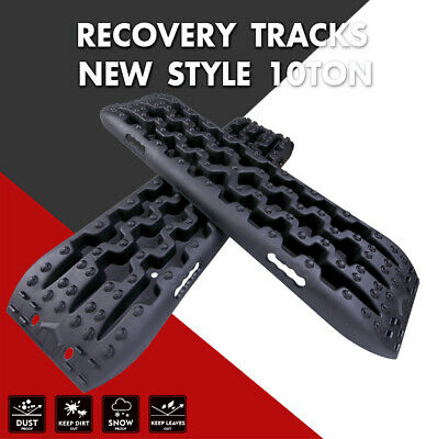 X-BULL 3.0 Recovery Tracks Sand Traction Snow Mud Tire Ladder Off Road 4WD Black
