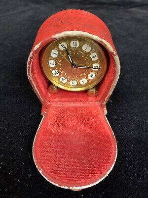 Vintage, Looping 15 Jewel , 8 Day, Alarm Clock Swiss Made Fully Working 1930s