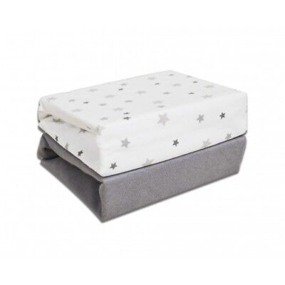 Cuddles Fitted Sheets to Fit Moses Basket - Magical Star - 2 Pack