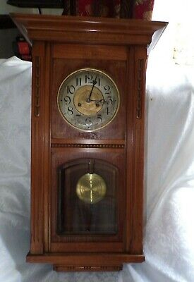 Vintage GUSTAV BECKER Wall Clock With a P48 Movement & VOLTA GONG Chime Bar