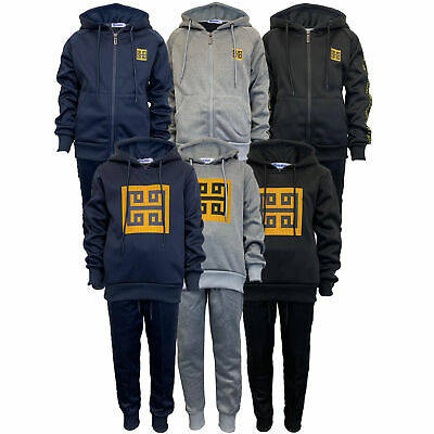 Boys Tracksuit Kids Cycling Football Top Bottoms Trousers Pants Sports New