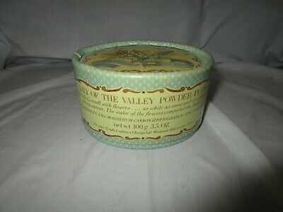 Vintage 1982 Crabtree & Evelyn Lily of the Valley Powder Puff 3.5oz. RARE