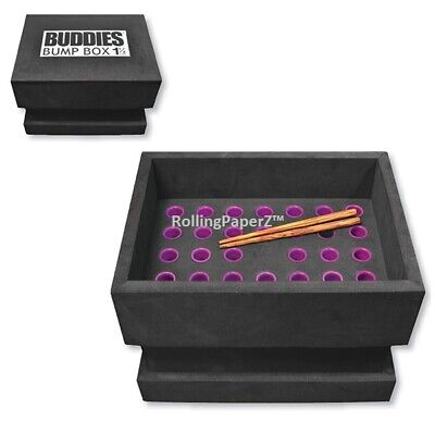 Buddies Bump Box CONE Filler Loads 34 Pre-Rolled 1 1/4 Size Raw Cones at Once